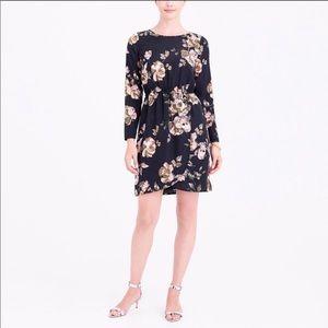 J. Crew Faux Wrap Dress in Floral Black